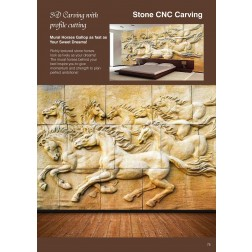 Stone CNC 3D Carving with profile cutting2